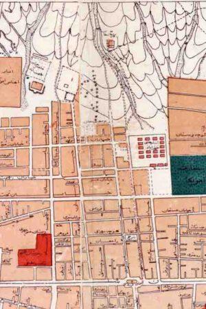 نقشه خیابان ویلا سال 1327
