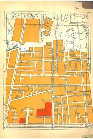 نقشه خیابان ویلا سال 1328