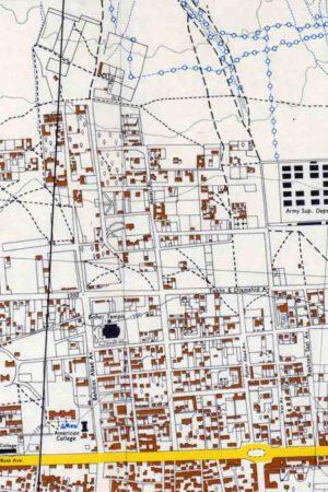 نقشه خیابان ویلا سال 1331