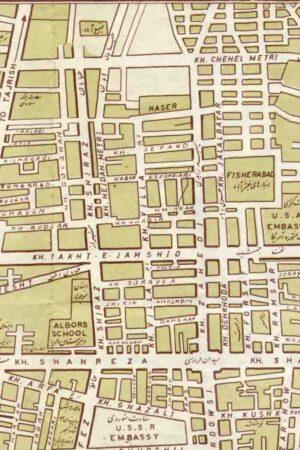 نقشه خیابان ویلا سال 1342