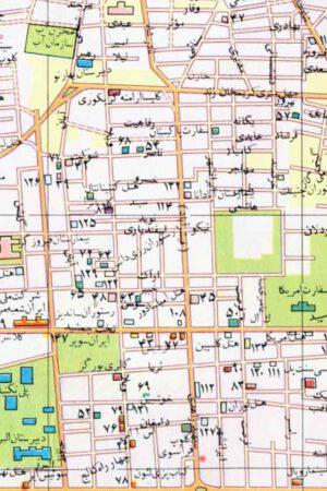 نقشه خیابان ویلا سال 1350